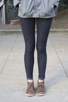 Clarks 'Desert' boots with skinnies/jeggings