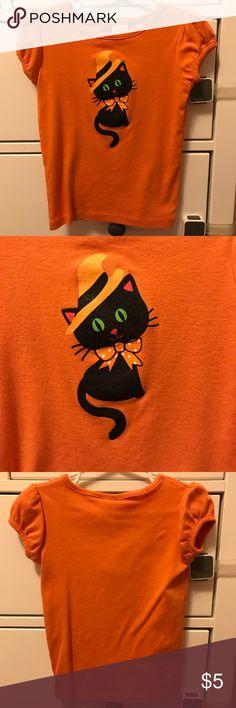 💕2T💕Halloween shirt Black cat Halloween top  Gymboree outlet Shirts & Tops Tees - Short Sleeve