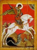 Miracolo di San Giorgio e il drago Conservata Museo Russo di San Pietroburgo