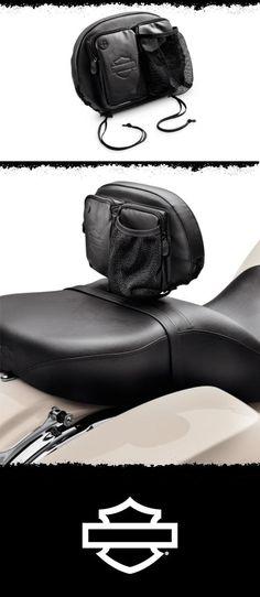 Keep passenger's essentials close at hand. | Harley-Davidson Rider Backrest Organizer #MothersDay