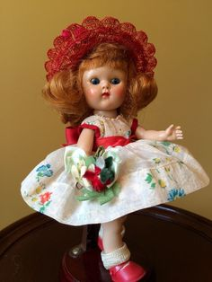 Vintage Vogue PLW Ginny Doll, My First Corsage 1954, With Corsage! #DollswithClothingAccessories