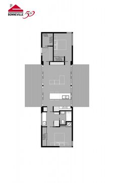 Bonneville -HALÖ 912 sq. ft Small House Floor Plans, House Plans One Story, Dream House Plans, Prefab Homes, Modular Homes, Cottage Design, House Design, Building Design, Building A House