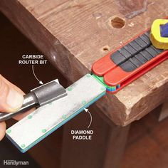 Tune Up Carbide Router Bits With a Diamond Paddle - Chipped or severely dulled…