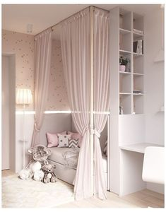Kids Bedroom Designs, Baby Room Design, Trendy Bedroom, Modern Bedroom, Baby Bedroom, Girls Bedroom, Bedrooms, Kids Bedroom Furniture, Bedroom Decor