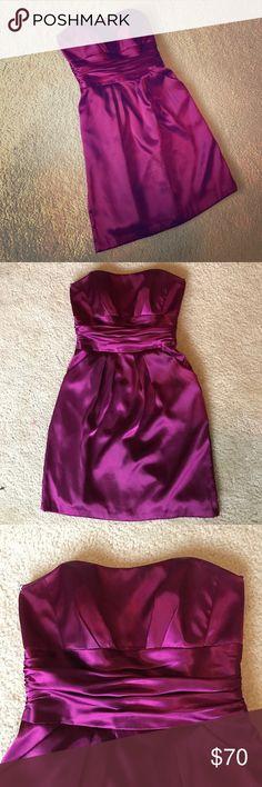Selling this David's Bridal size 6 Fuchsia strapless Dress on Poshmark! My username is: jayellle. #shopmycloset #poshmark #fashion #shopping #style #forsale #David's Bridal #Dresses & Skirts