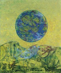 Max Ernst (French, born Germany, 1891-1976), La terre à travers les âges, 1961. Oil on canvas, 55 x 46 cm.