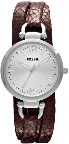 #Fossil Watch , FOSSIL Georgia Leather Watch Brown ES3155