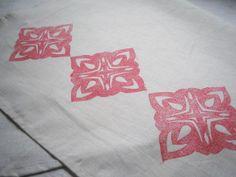 Lino stamp fabric printingtutorial