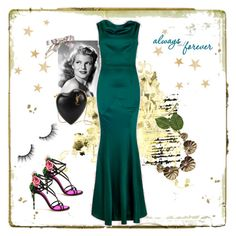 """""""Collectif dress 💋💚"""" by christina-63 on Polyvore featuring Collectif, Dolce&Gabbana, Yves Saint Laurent, Chanel, Kate Spade and tarte"""