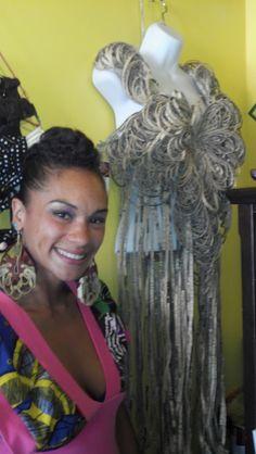 8e6ee68e4cc32 Eco-friendly fashion  Dekalb Market! Join the discussion  Newspaper Fashion  by Alicia