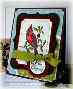 Christmas Cardinal by Beate - Cards and Paper Crafts at Splitcoaststampers