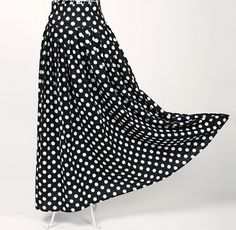 Drop shipping black white polka dot skirt floor length long cotton skirts retro style vintage women clothing novelty party xxl-in Skirts from Women's Clothing & Accessories on Aliexpress.com | Alibaba Group