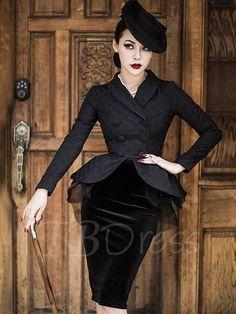 Tbdress.com offers high quality Black Long Sleeve Mesh Elegant Women's Skirt Suit Dress & Skirt Suits unit price of $ 25.99.