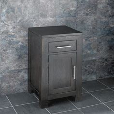 Alta Solid Oak Wenge Square One Door Vanity Cabinet - will not only add style and luxury to your bathroom, but the cabinet is also perfect Cloakroom Vanity Unit, Bathroom Vanity Cabinets, Bathroom Storage, Small Vanity, Oak Color, Bathroom Essentials, Oak Cabinets, Single Doors, Solid Oak