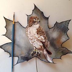 Живопись на кленовых листьях | Блог Кристи | КОНТ