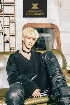 """크나큰(KNK) 2nd MINI ALBUM <REMAIN><JI HUN> BLACK VER. PHOTO #크나큰 #KNK #REMAIN """