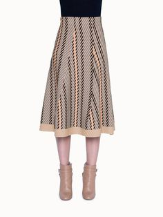A diagonal tweed jacquard pattern emphasizes the trumpet shape of this fluid knit skirt that falls to a chic midi length. Style Name:Akris Tweed Jacquard A-Line Midi Skirt. Style Number: Available in stores. Plus Size Blouses, Plus Size Dresses, Houndstooth Skirt, Tie Skirt, Lace Sheath Dress, A Line Skirts, Tweed, Cashmere, Nordstrom