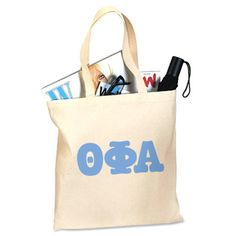 Theta Phi Alpha Sorority Printed Budget Tote Bag #ThetaPhiAlpha #TPA #Greek #Sorority #Clothing #Accessory #Accessories #Bag