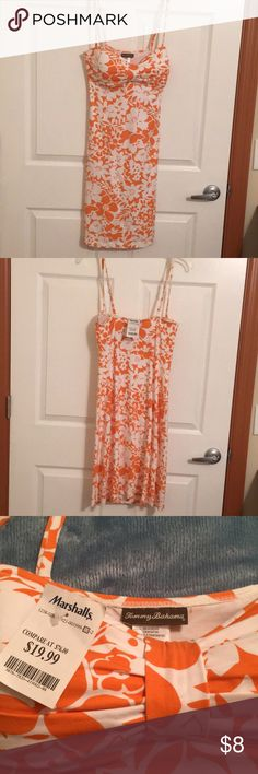 Tommy Bahama summer dress Tommy Bahama white & orange floral dress-new.  Perfect dress for vacation! Tommy Bahama Dresses