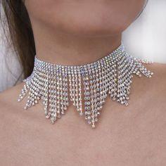 Fashion Necklace, Fashion Rings, Fashion Jewelry, Fashion Accessories, Rhinestone Choker, Crystal Choker, Diamond Choker, Jewelry Sets, Women Jewelry