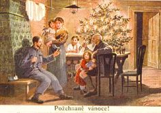 In History - Old Czech Christmas Cards & Postcards