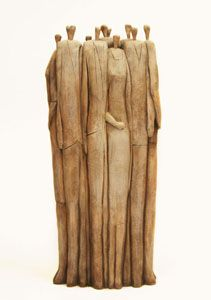 """clay, sculpture, multiple figures 10"""" by Stephen Booth"""