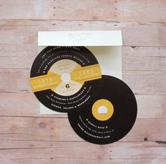 Record Party Invitation 1950s Retro Rockabilly by LetterBoxInk