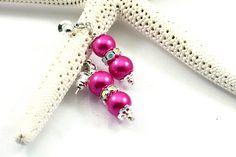 Pearl Earrings, Bridesmaid, Pink, Wedding Jewelry. $10.00, via Etsy.