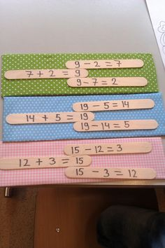 visual for family of facts Math Addition, Addition And Subtraction, Daily 5 Math, Math Classroom, Classroom Ideas, Group Activities, Numeracy, Babysitting, Math Games