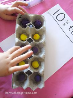 Counting & Make 10 with Egg Cartons. Playful Maths