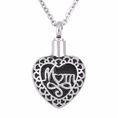 """Find More Pendants Information about UNY Hot sale! 316 Stainless steel MOM urn cremation pendant jewelry funeral urn ashes keepsake pendant """"always in my heart"""",High Quality jewelry glass pendants,China pendant tiffany Suppliers, Cheap pendants for jewelry making from uny jewelry on Aliexpress.com"""