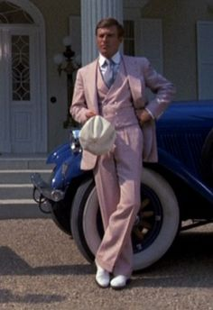 """Robert Redford as 'Jay Gatsby' in """"The Great Gatsby"""" (1974) - Ralph Lauren, designed the men's costumes -"""