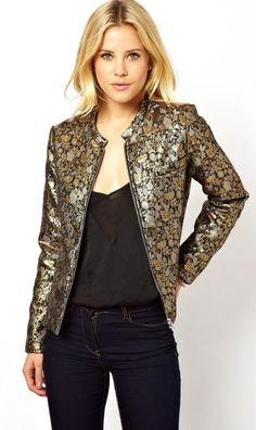 Metallic jacket. i'm in love!
