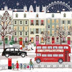 Christmas Drawing, Christmas Art, Winter Christmas, Vintage Christmas, Christmas Decorations, Xmas, Christmas Morning, Christmas 2019, Christmas Illustration
