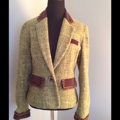 Country Club Casual blazer Well-designed jacket with faux suede pocket flaps, lapels and cuffs. Fun trim. Tasha Polizzi/ T.P. Saddleblanket & Co. Jackets & Coats Blazers