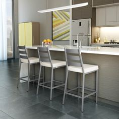 AMISCO - Level Stool (40325) - Furniture - Kitchen - Urban collection - Contemporary - Non swivel stool