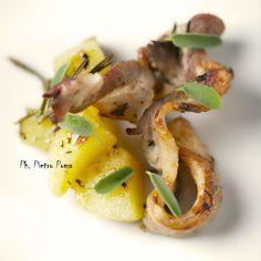 pancetta di maiale e patate al forno