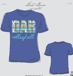 DAR Middle School Volleyball Shirts #custom #design #volleyball