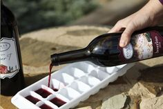 Make ice cubes with leftover wine. | 23 Genius Ways To Use An Ice Cube Tray