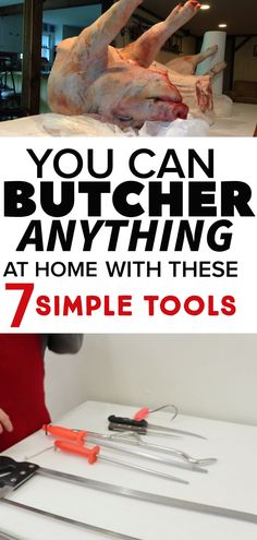 Butchers Table Learn what butchering equipment you need to butcher your own deer, pigs, goat, sheep, Butcher Table, Meat Butcher, Butcher Knife, Butcher Shop, Canning Food Preservation, Preserving Food, Deer Butchering, Deer Processing, Meat Packing