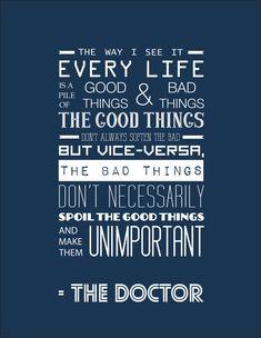 Quote Doctor Who Matt Smith Typography Print by RockinRobinArt, $18.00