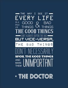 Doctor Who Inspirational Quote Typography Print by RockinRobinArt, $22.00