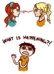 Clueless percy lets just say they hate each other with all thier guts (annabeth is better)