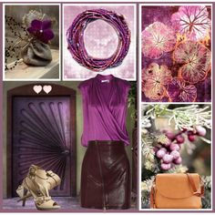 Radiant Orchid by leegal57 on Polyvore featuring Lola, McQ by Alexander McQueen, Dooney & Bourke, River Island, Pantone and Burberry