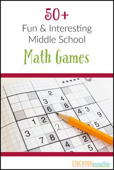 Middle school math - learning fractions, decimals, and algebra, is a bit more challenging. that's why i compiled this list of math games Math Teacher, Math Classroom, Teaching Math, Math Tutor, Kindergarten Math, Math College, Education College, Special Education, Junior High Math