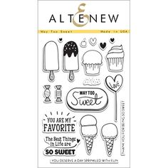 Altenew WAY TOO SWEET Clear Stamp Set  Preview Image