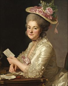 Alexander Roslin 1718-1793 Marie Emilie Boucher '(born 1740, married Cuivilliers 1779).