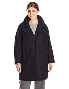 Marc New York by Andrew Marc Womens PlusSize Wendy Wool Coat Black 3X >>> Learn more by visiting the image link.