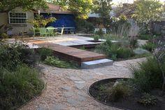 rain garden off patio - contemporary landscape by Luciole Design Inc.