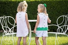 Colleen Color Block Set - Plantation Pink with Kiawah Kelly Green - The Beaufort Bonnet Company